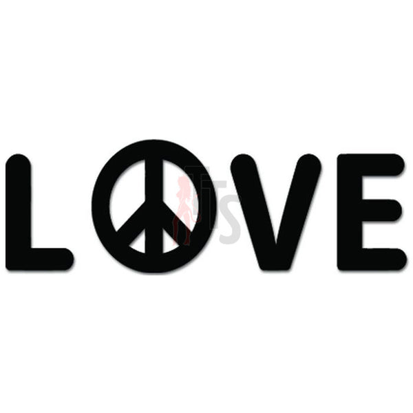 Love And Peace Sign Decal Sticker