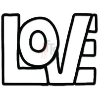 Love Word Decal Sticker