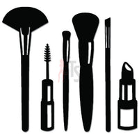 Make Up Brushes Artist Decal Sticker