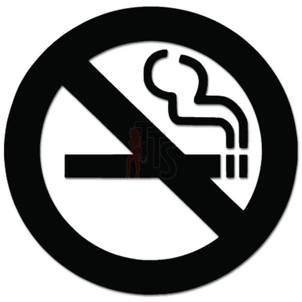 No Smoking Sign Decal Sticker Style 2