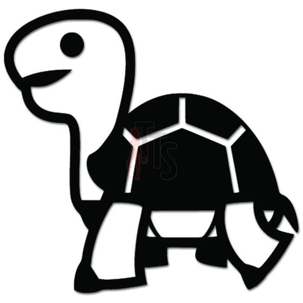 Cute Turtle Walking Decal Sticker