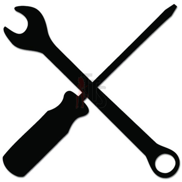 Wrench Screwdriver Mechanic Tools Decal Sticker