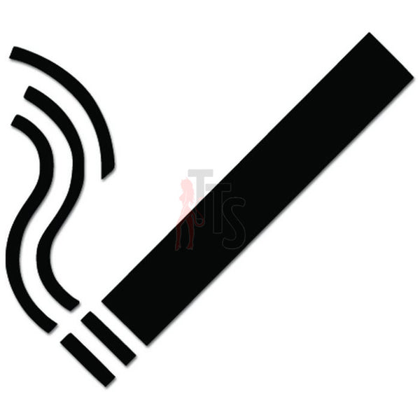 Smoking Cigarette Sign Decal Sticker