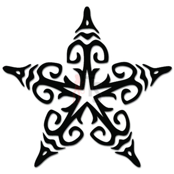 Star Tribal Art Decal Sticker Style 2