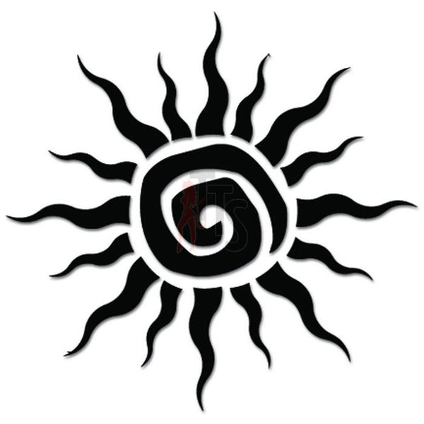 Tribal Sun Decal Sticker Style 3