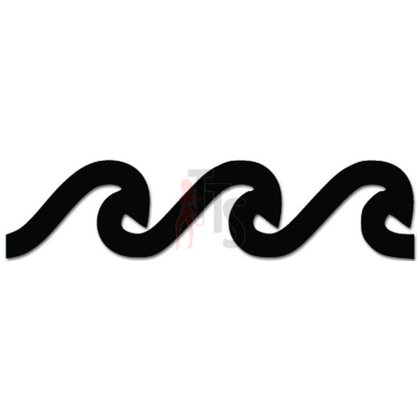 Wave Surf Surfing Surfer Decal Sticker Style 1