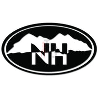 NH New Hampshire Mountains Decal Sticker