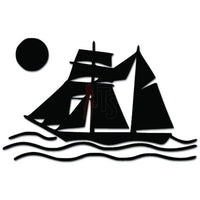 Sailboat Sailing Sailor Decal Sticker Style 1