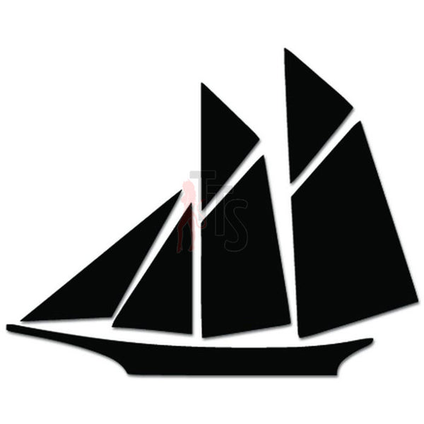 Sailboat Sailing Sailor Decal Sticker Style 2