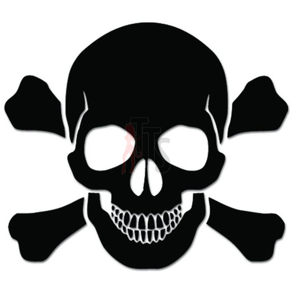 Death Skull Crossbones Decal Sticker Style 17