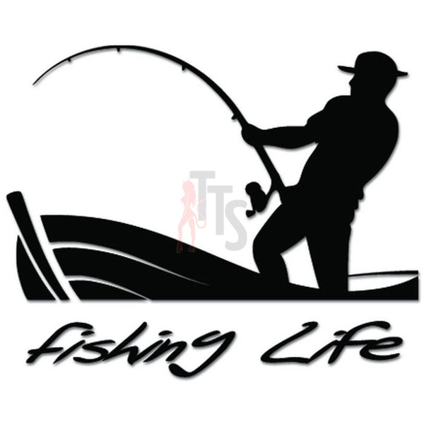 Fishing Life Fish Decal Sticker Style 2