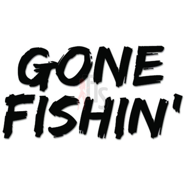Gone Fishing Fish Decal Sticker