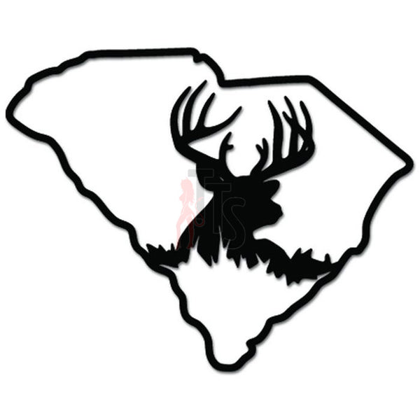 South Carolina State Deer Hunting Decal Sticker