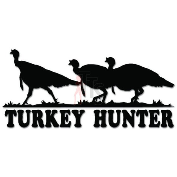 Turkey Hunter Hunting Decal Sticker Style 2