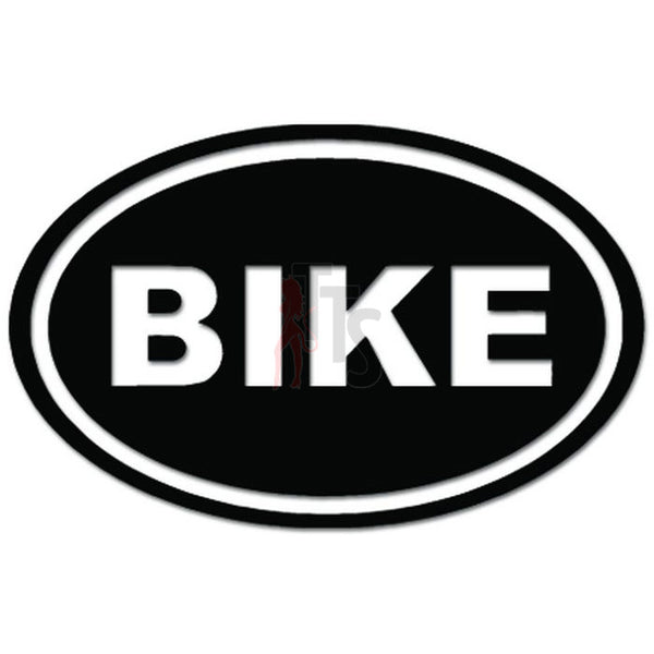 Bike Oval Bicycle Cycling Decal Sticker