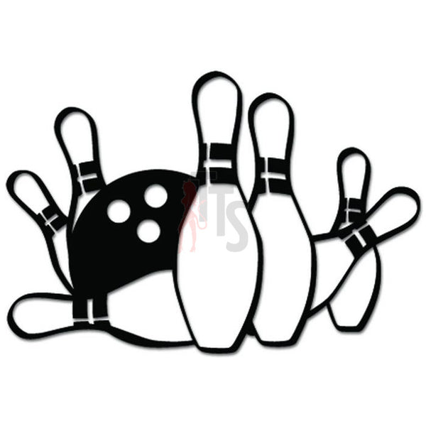 Bowling Ball Pins Sports Decal Sticker
