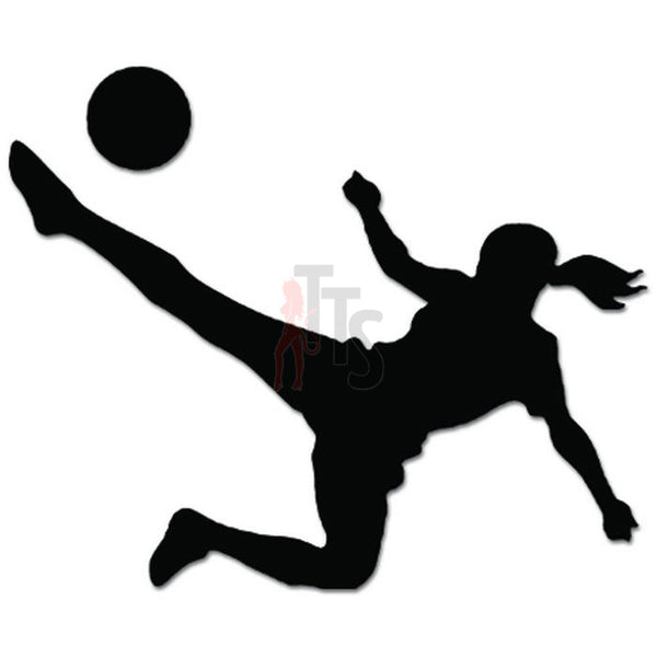 Girl Soccer Player Decal Sticker