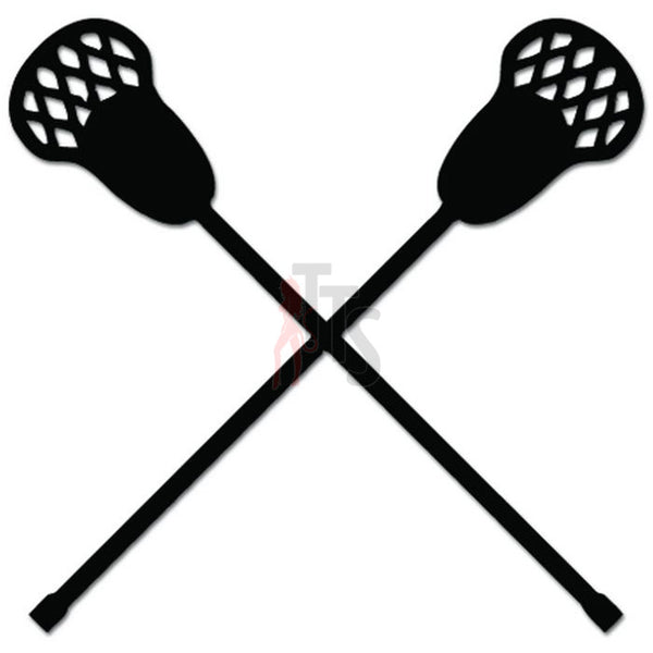 Lacrosse Sticks Sports Decal Sticker