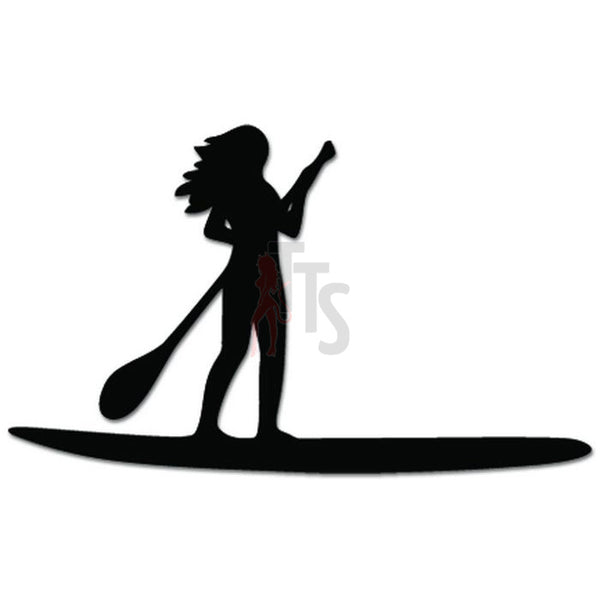 Paddle Board Girl Paddleboarding Decal Sticker