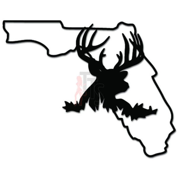Florida State Deer Buck Hunting Decal Sticker