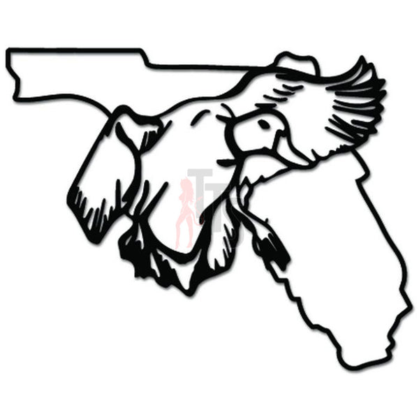 Florida State Drake Duck Hunting Decal Sticker