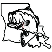 Louisiana State Largemouth Bass Fishing Decal Sticker