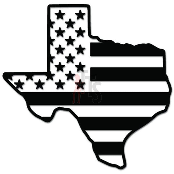 Texas State Map USA American Flag Decal Sticker
