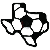 Texas State Map Soccer Sports Decal Sticker