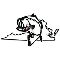 Virginia State Largemouth Bass Fishing Decal Sticker Style 1