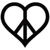 Peace Love Heart Symbol Decal Sticker Style 1