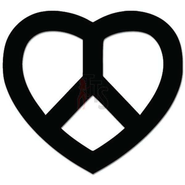 Peace Love Heart Symbol Decal Sticker Style 2