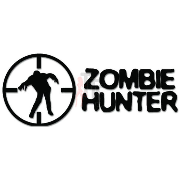 Zombie Hunter Crosshair Target Decal Sticker