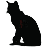 Cute Kitty Cat Kitten Pet Sitting Decal Sticker Style 2
