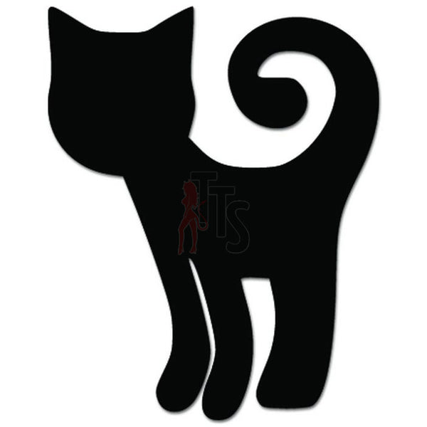 Cute Kitty Cat Kitten Pet Sitting Decal Sticker Style 3