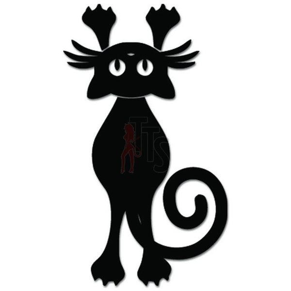 Cute Kitty Cat Kitten Hanging Pet Decal Sticker