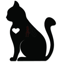 Cute Kitty Cat Kitten Pet Love Heart Decal Sticker