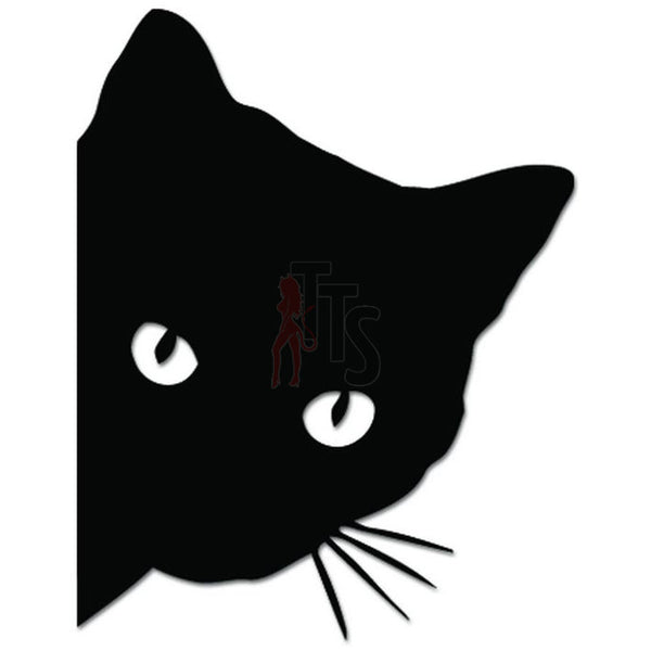 Cat Kitty Peeking Kitten Pet Decal Sticker Style 1