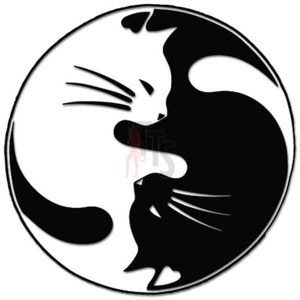 Cat Kitty Kitten Ying Yang Pet Decal Sticker