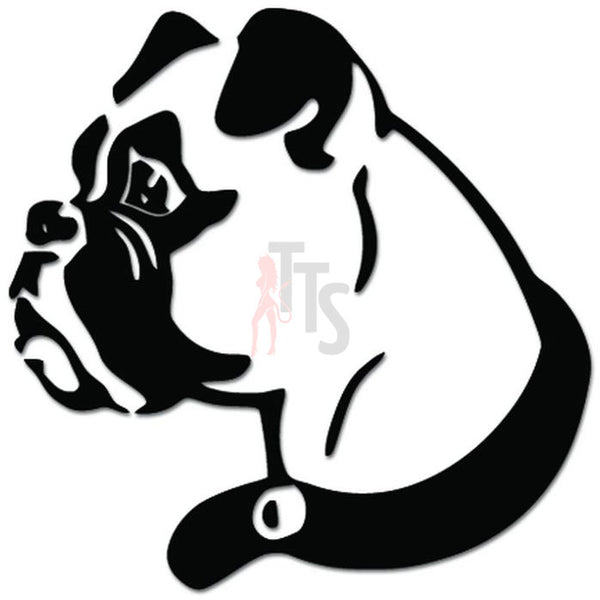 Boxer Dog Head Pet Lover Decal Sticker