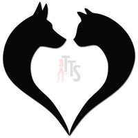 Dog Cat Pet Lover Love Heart Decal Sticker