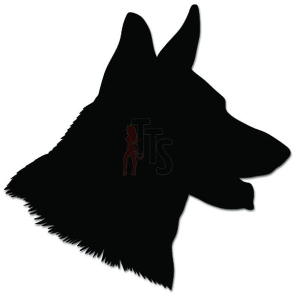 German Shepherd Dog Head Pet Lover Decal Sticker Style 2