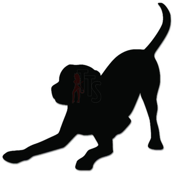 Dog Playing Pet Lover Decal Sticker
