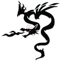 Tribal Dragon Breathing Fire Decal Sticker