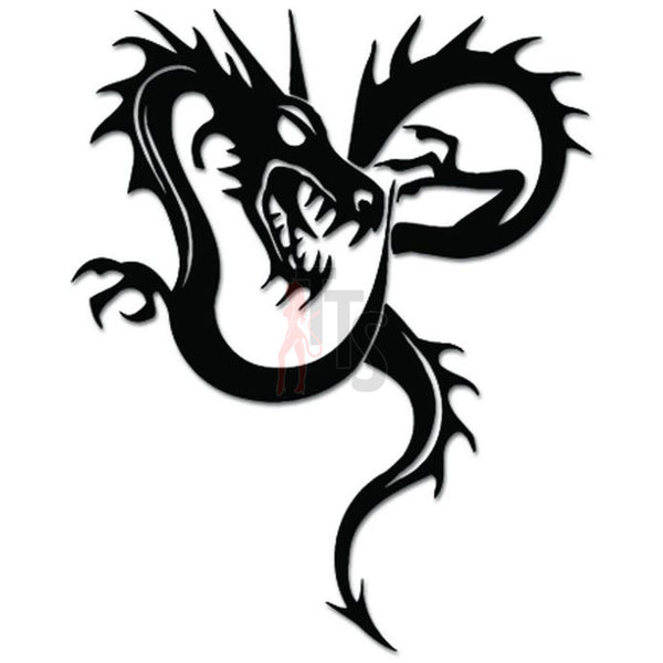 Tribal Dragon Decal Sticker Style 9