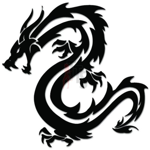 Tribal Dragon Decal Sticker Style 10
