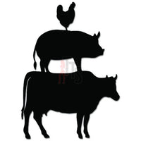 Farm Chicken Pig Cow Farmer Decal Sticker