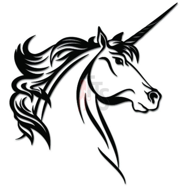 Unicorn Horse Head Decal Sticker