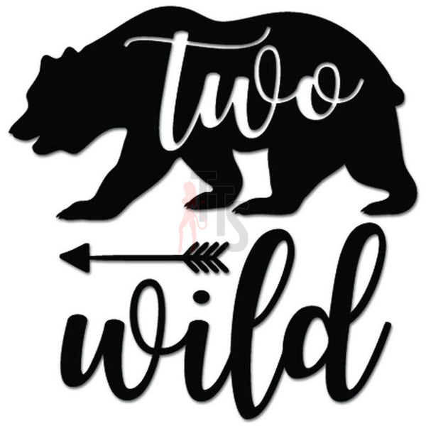 Two Wild Bear Animal Decal Sticker