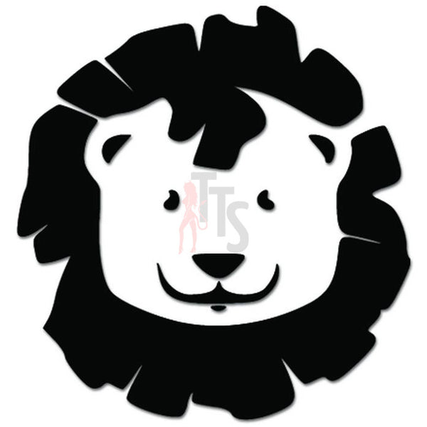 Cute Lion Face Head Decal Sticker