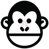 Monkey Chimp Face Decal Sticker